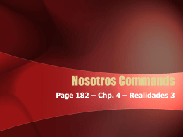 p182-nosotros-commands - Lasclasesdesragraham