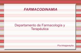 Presentación de una novedad - Departamento de Farmacología y