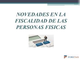 4.- Novedades en la fiscalidad de las PF