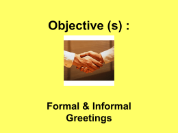 Objective (s) :