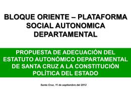 estructura del estatuto autonomico departamental