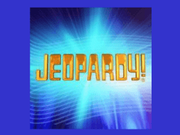 Jeopardy - Spanish 9 Midterm Review (Comp)