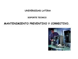 mantenimiento preventivo y correctivo - Docencia FCA-UNAM
