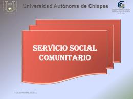 Proyecto Universitario de Servicio Social Comunitario para