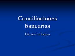 Conciliaciones bancarias - cp linda patricia carrasco morgan