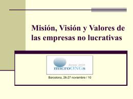 Misión, Visión, Valores - Forum de las microONGs