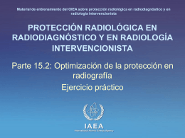 15. Optimización de la protección en radiografía: Parte 2