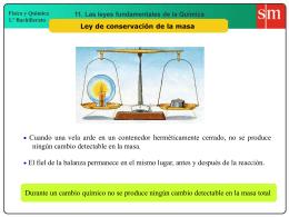 1. Ley de conservación de la masa