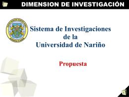 Sistema Investigaciones Udenar