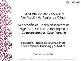 Investigaciones por prácticas de dumping, subvenciones y para la