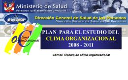 Plan para el Estudio del Clima Organizacional