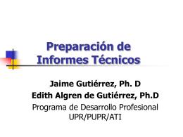 Contenido del Informe Técnico - UPR-PUPR-ATI