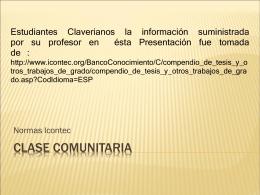 Normas Icontec_Clase Comunitaria