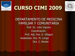 cimi09_Julio - Dpto. de Medicina Familiar y Comunitaria
