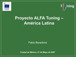 Proyecto ALFA Tuning – América