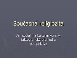 Současná religiozita
