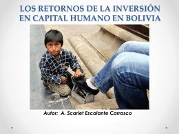 6.1. Los retornos de la Inversión en Capital