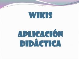 presentación 3 wikis