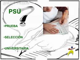 PSU - evaluacion