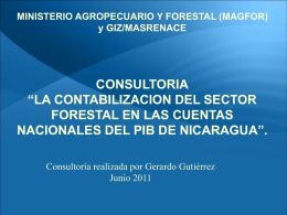 Resultados % Forestal en el PIB GERARDO