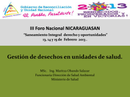 minsa FORO NICARAGUASAN 2013 vfmos