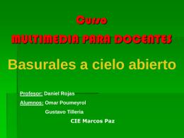 Curso TICs - Basurales a cielo abierto - CIIE-R10