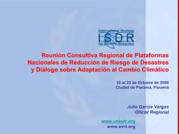 UNISDR: Reunión Consultiva Regional de