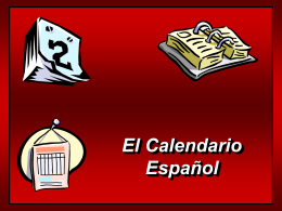Vocabulario sobre el calendario