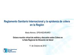 RSI y la epidemia de Cólera en la Región