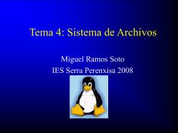Tema 4: Sistema de Archivos - iesserra
