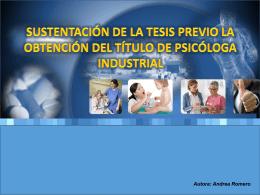 5. ESTUDIO DE LA SATISFACCION LABORAL EN EL PERSONAL