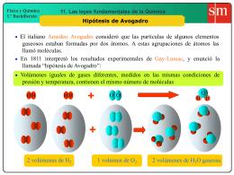 3. Hipótesis de Avogadro