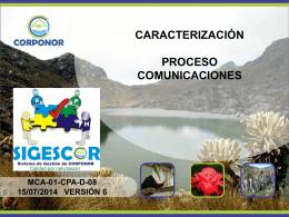 caracterización proceso comunicaciones
