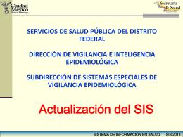 SIS 2013 modificaciones SISTEMAS