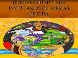 BIODIVERSIDAD Y LOS INVENTARIOS DE FORMAS DE VIDA