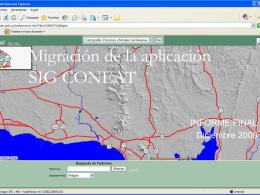 Migración de la aplicación SIG CONEAT