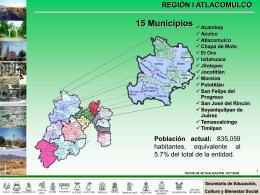 región i atlacomulco - Gobierno del Estado de México