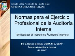 01 Normas para el ejercicio profesional de la Auditoría Interna