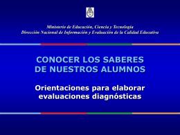 Evaluación Diagnóstica - Ministerio de Educación