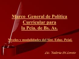 Marco Gral de Política Curricular