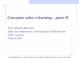 Conceptos sobre e-learning