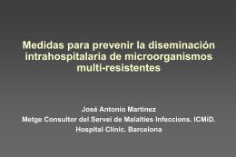 Medidas para prevenir la diseminación intrahospitalaria de