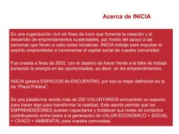 Areas de desarrollo - INICIA