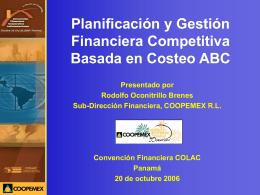 Planeación Financiera Basado en Costos ABC