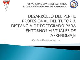 UNIVERSIDAD MAYOR DE SAN SIMÓN ESCUELA