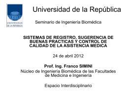 Universidad de la República - Núcleo de Ingeniería Biomédica