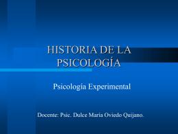 """""""Historia de la psicología experimental""""."""