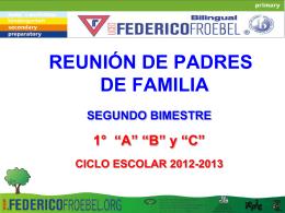 primero - Colegio Federico Froebel