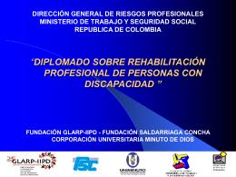 Diplomado sobre rehabilitación profesional de personas con