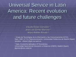 Universal Service in Latin America